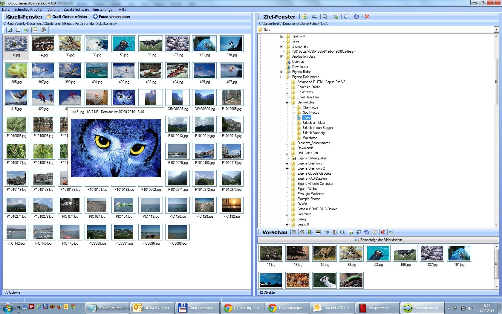 Programm zur Fotoverwaltung